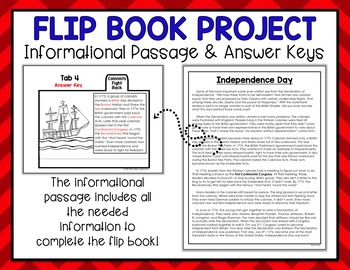 4th of July Independence Day Activity Flip Book