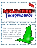 The Declaration of Independence Mini-Book BW and Color