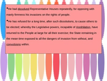 The Declaration of Independence PowerPoint