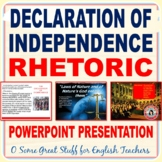 THE DECLARATION OF INDEPENDENCE PRESENTATION  A Discussion