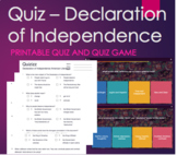 The Declaration of Independence Quiz and Game -HMH Collect