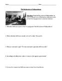 The Declaration of Independence Worksheet, Test, or Homewo