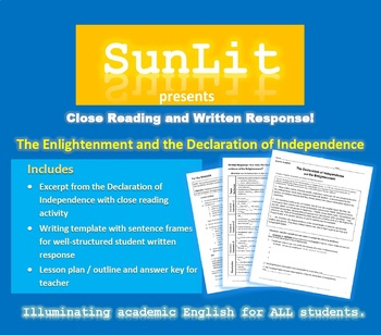 The Declaration of Independence & the Enlightenment - Close Reading and Writing