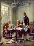 The Declaration of Independence, what the colonists were saying