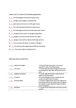 The Declaration of Independence (with answer key)