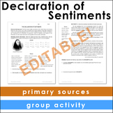 Declaration of Sentiments Primary Source Analysis