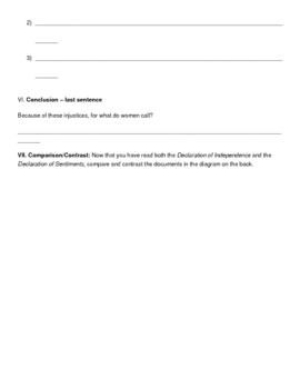 The Declaration of Sentiments - Persuasive Writing Analysis