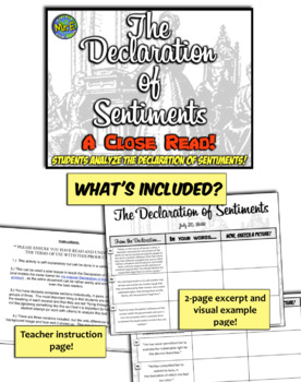 The Declaration of Sentiments:  Reading, Rephrasing, Interpreting, and Creating!