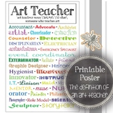The Definition of an Art Teacher: Art Classroom Decoration, Printable Poster