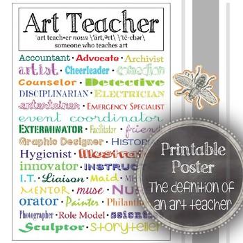 The Definition of an Art Teacher: Art Classroom Decoration