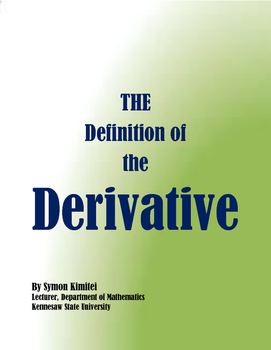 AP CALCULUS: The Definition of the derivative
