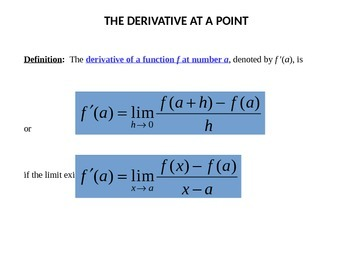 The Definitions of a Derivative