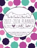 HALF OFF!  Art Teacher's Best Friend--(COOL COLORS COVER) 2017/2018 Planner