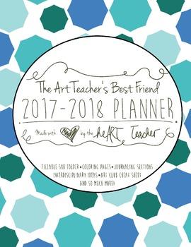 HALF OFF! Art Teacher's Best Friend--(OCEAN COVER) 2017/2018 Planner