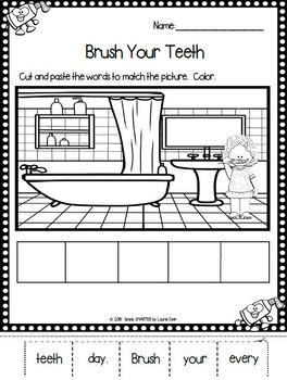 The Dentist's Sentences:  NO PREP Dental Health Themed Cut and Paste Sentences