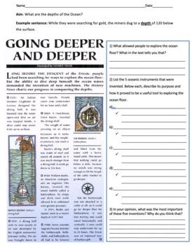 The Depths of the Ocean and the Ocean Floor