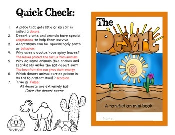 The Desert Habitat: A non-fiction mini-book