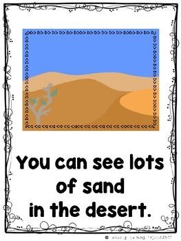 The Desert Bundle  (2 Sight Word Readers, 2 Teacher Lap Books, and Animal Cards)