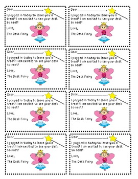 The Desk Fairy- Printable Cards for the Kids