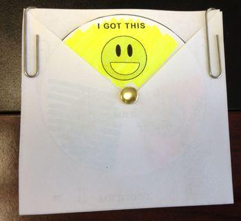 The DeskDisk - Student Self Assessment Tool