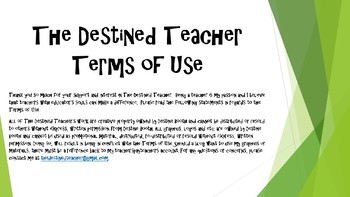 The Destined Teacher Terms of Use
