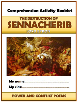 The Destruction of Sennacherib Comprehension Activities Booklet!