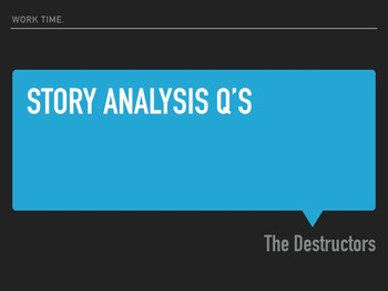 The Destructors Short Story Analysis (Presentation)