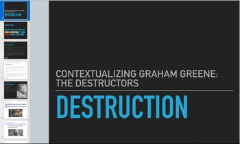 The Destructors Short Story Analysis (Presentation)
