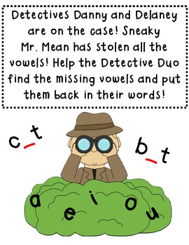 The Detective Duo And The Case Of The Missing Vowels