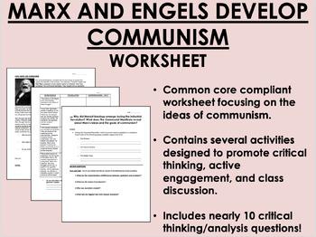 The Development of Communism - Marx & Engels - Global/World History  Common Core