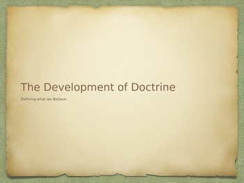 The Development of Doctrine