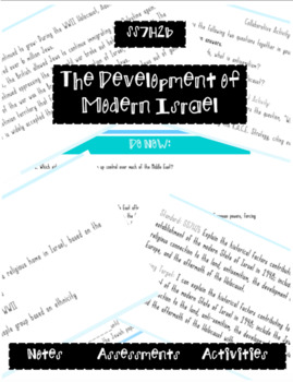 The Development of Modern Israel (SS7H2b): Lesson and Handouts