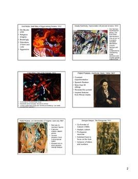 The Development of Modernist Art (early 20th century)
