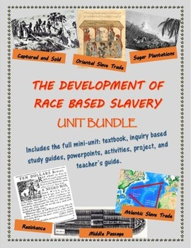 The Development of Race Based Slavery/The Middle Passage u
