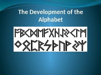 The Development of the Alphabet