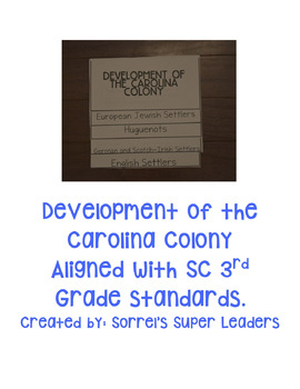 The Development of the Carolina Colonies