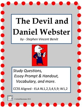 THE DEVIL and DANIEL WEBSTER  Study Questions & Essay