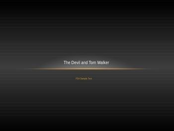 The Devil and Tom Walker Common Core FSA Parcc Test Prep