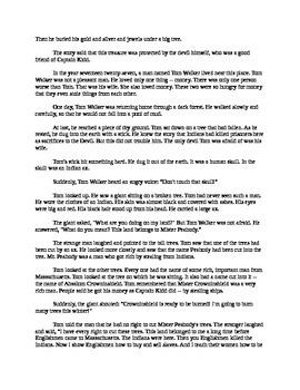The Devil and Tom Walker - Easy Reading Version