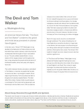 The Devil and Tom Walker: Moral Decay Revealed through Motifs and Symbols
