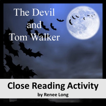 the devil and tom walker teaching resources teachers pay teachers  the devil and tom walker washington irving close reading activity