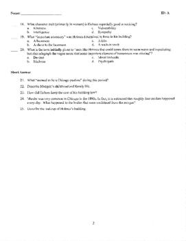 The Devil in the White City Part I Quiz