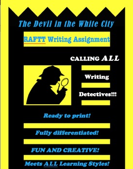 The Devil in the White City RAFTT Writing Assignment