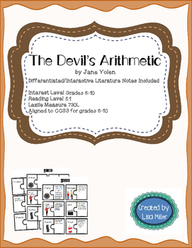 The Devil's Arithmetic Novel Unit with Differentiated/Interactive Notes