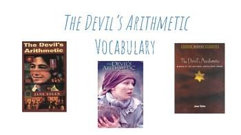 The Devil's Arithmetic- Pre Reading Vocabulary