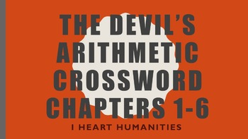 The Devil's Arithmetic Vocabulary Crossword Chapters 1-6