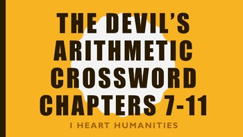 The Devil's Arithmetic Vocabulary Crossword Chapters 7-11