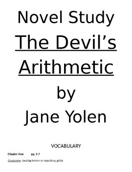 The Devil's Arithmetic by Jane Yolen Novel Unit