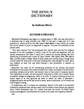The Devil's Dictionary - Ambrose Bierce