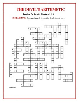 The Devil's Arithmetic: 2 Reading-for-Detail Puzzles—Challenging!